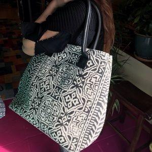 3962ed777da7 Large Tote Bag. Heavy woven cotton, unique design!